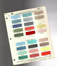 1959 DeSOTO Color Chip Paint Sample Brochure / Chart: PPG, FireFlite,FireDome,