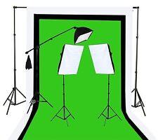 Fancierstudio U9004SB-10x12BWG Light Kit 2000 Watt Photo Video Lighting Kit w...
