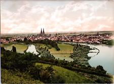 Deutschland, Regensburg. Generalansicht. vintage print photochromie, vintage p