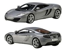 MCLAREN MP4-12C ICE SILVER 1/43 DIECAST CAR MODEL BY AUTOART 56007