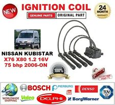 FOR NISSAN KUBISTAR X76 X80 1.2 16V 75 bhp 2006-ON IGNITION COIL with LEADS