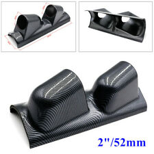 "2"" Dual Gauge Cover Mount Holder Carbon Fiber Look ABS For Car SUV Right Side"