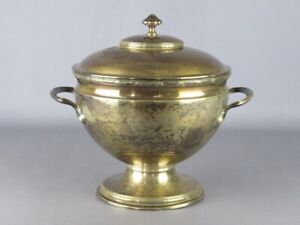 Antique Soup Tureen Plated Silver Decoration Empire Period Xx Century