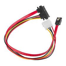 40cm SATA 7+15 22 Pin Combo Cable HDD Hard Drive Data 4 Pin Power Supply Adapter