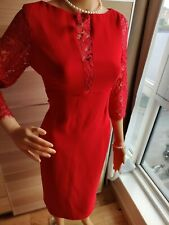 NEW FOREVER PARIS DRESS SIZE 42 UK 12 US 8 APPROXIMATELY RED 100% POLYESTER