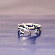 Christmas Antlers Wedding Ring Open Jewelry Women Fashion Simple Silver Rings
