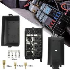 Universal Car Marine 6-way fuse+ 6-relay holder box with spade terminals