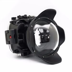 Seafrogs 40M Underwater Camera Housing Diving Case For Fujifilm X-T2 w/Dome Port
