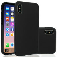 For iPhone X / XS / XR / XS Max | Shockproof Slim TPU Soft Dual Layer Case Cover