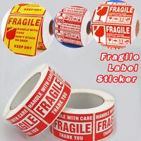Zerbrechlich Aufkleber Sticker Etiketten Vorsicht Glas Versand Umzug Paket