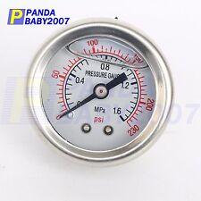 Universal Instrument Regulator Meter Fuel Oil Pressure Gauge Max 230PSI(1.6MPa)