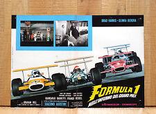 FORMULA 1 NELL'INFERNO DEL GRAND PRIX fotobusta poster Agostini Pilota CM3