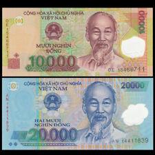 Vietnam Viet Nam set 2 PCS,10000+ 20000 Dong, 2011-2017, P-119,120  Polymer, UNC
