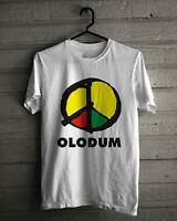 Olodum T-Shirt, Brazilian Cultural Group Logo White Tee Size S,M,L,XL,2XL,3XL