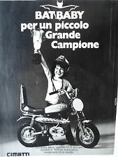 ANNI 70  ADEVERTISING PUBBLICITà BAT BABY  CIMATTI
