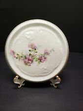 Vintage Revere China Akron Ohio Teapot Trivet With Purple Flowers With Gold Trim