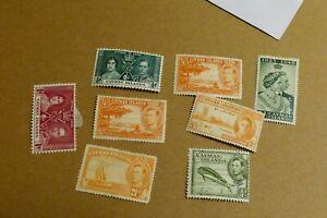 8 Cayman Islands postage stamps philately philatelic postal kiloware
