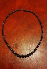 Necklace Beads Long Wood Hematite (501)