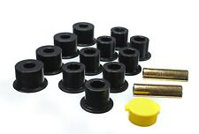 Energy Suspension Leaf Spring Bushing Set Black Front/Rear for 86-97 Nissan D21