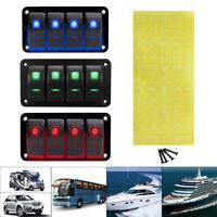 4Gang LED Schaltpanel Schalter Schalttafel Circuit Breaker Auto Boot Wasserdicht