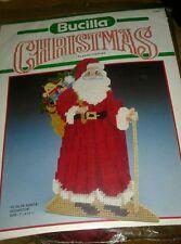 Bucilla plastic canvas Kit Ye Old Santa doorstop 13 inches tall vintage