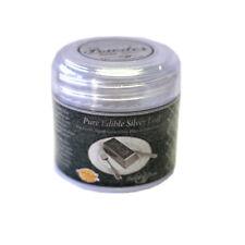 DeiAurum: Pure Edible Silver Leaf Powder, Jar, 1g