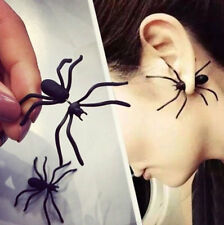1Pair Christmas Halloween Black Spider Charm Ear Stud Earrings Gift Fancy Party