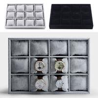 Samt Uhrenbox Uhrenkasten Armband Armreif Tablett Schmuck Organizer