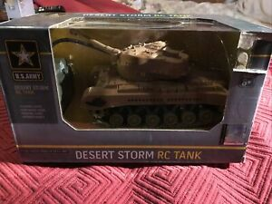 US Army Desert Storm Tank RC Remote Control Toy Brand New