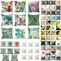 Tropical Animal Print Pillow Case Waist Throw Sofa Car Cushion Cover Home Decors