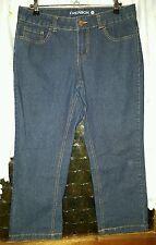WOMENS Sz 10 blue denim EMERSON long shorts / cropped capris STRETCHY & COMFY!