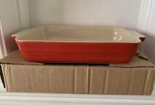 Le Creuset Stoneware 39cm Rectangular Baking Dish - Red (New)