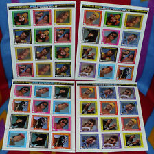WWF Superstar Collectors Stamps Coliseum Video Full Set of 4 sheets