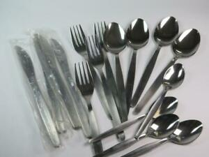 VINTAGE STAINLESS STEEL (Japan) Cutlery 16 Pieces 4 Persons 1970s