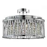 SEARCHLIGHT ELISE 5 LIGHT CRYSTAL CEILING PENDANT IN CHROME FINISH 8335-5CC