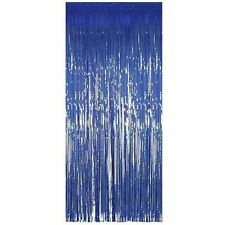 Shimmer Foil Curtains for party,birthday and wedding decor 1M x 2M-Blue(50pack)