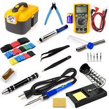 Soldering Iron Kit Electronic Digital Multimeter 60W 110V-Adjustable Temperature