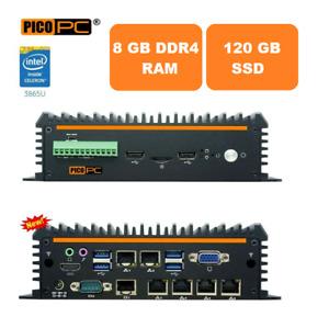 Fanless Mini PC Intel 8th Gen 3865U 6LAN Firewall VPN Router AES-NI 8G/120G