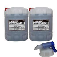 2x 20 L PEMCO Kühlerfrostschutz Typ G13 Antifreeze Kühlmittel (-40) grün + Hahn