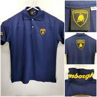 Automobili Lamborghini Mens 2XL XXL Polo Shirt Blue