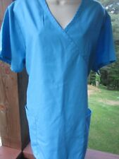 Natural Uniforms Brand SCRUB TOP Size XL -  Solid Turquoise Color Matching