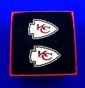 Kansas City Chiefs Cufflinks KC Chiefs Football Cufflinks US Seller