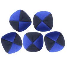 Blue/ Black Set of 5 Moleskin Juggling Balls - Faux Suede Quality Pro Thud Balls