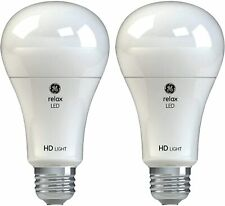 GE Lighting Relax HD LED Light Bulbs 75W Replacement A21 2-Pack Soft White Dimma