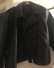 size 16 dorothy perkins leather coat worn twice