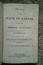 The Laws of the State of Kansas (1873 Legislative Session)