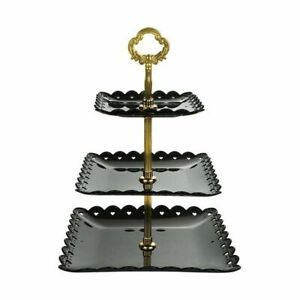 3-Tier Cupcake Stand Cake Round Serving Display Dessert Plate Rack Wedding Decor