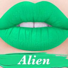LIME CRIME VELVETINE VELVETINES ALIEN BLACK LIGHT GREEN MATTE LIPSTICK COSMETICS