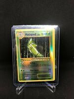 Pokemon Cards - ERROR MISCUT -  Metapod Reverse Holo 4/108