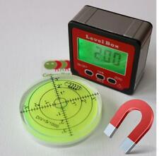 Magnétique Niveau à bulle numérique mesureur d'angles boîte. Rapporteur métrique